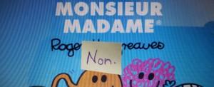 couverture monsieur madame, post-it