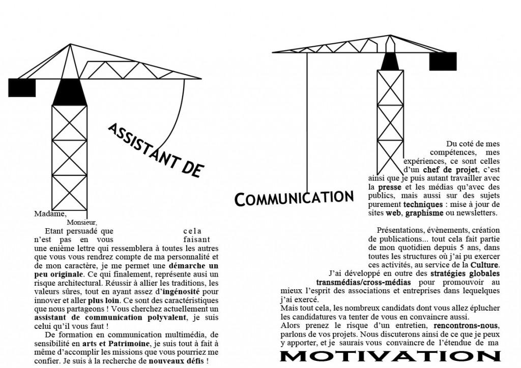 une lettre de motivation graphique