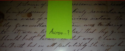 lettre et post-it
